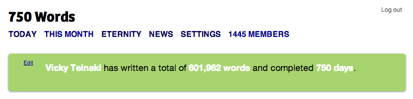 750 Days of 750 Words